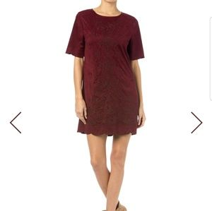 Miss Me Redwine Crew neck Dress medium